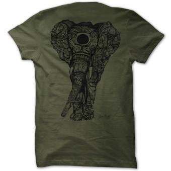 """Kahalani t-shirt """"Elephant"""" Olive"""