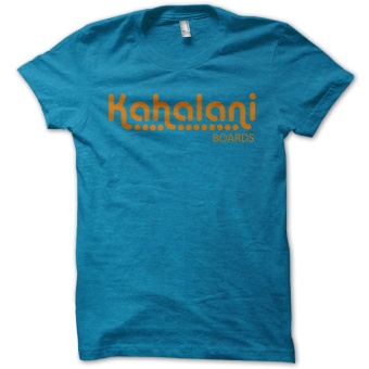 Kahalani t-shirt logo Antique Sapphire