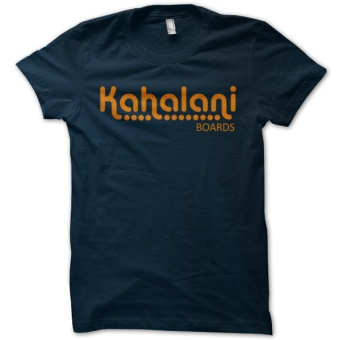 Kahalani t-shirt logo Navy