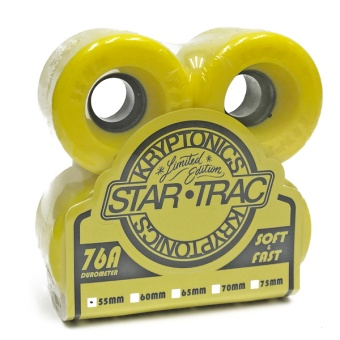 Kryptonics StarTrac 55mm 76A Yellow
