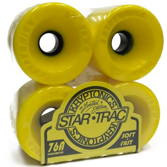 Kryptonics StarTrac 70mm 76A Yellow
