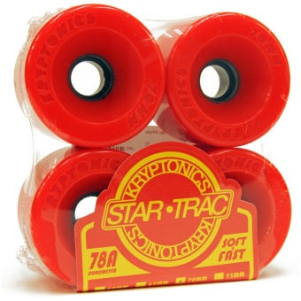 Kryptonics StarTrac 70mm 78A Red