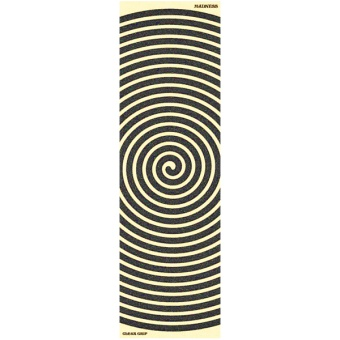 "Mad Swirl clear 10"" griptape sheet"