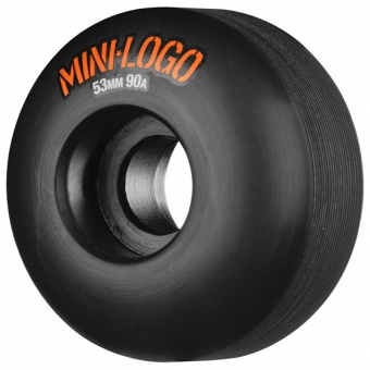 Mini Logo 53mm, 90A Hybrid C-cut Black