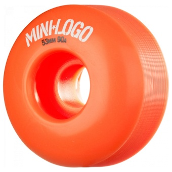 Mini Logo 53mm 90A Hybrid C-cut Orange