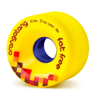 Orangatang 65mm, 86A FatFree (Gul)