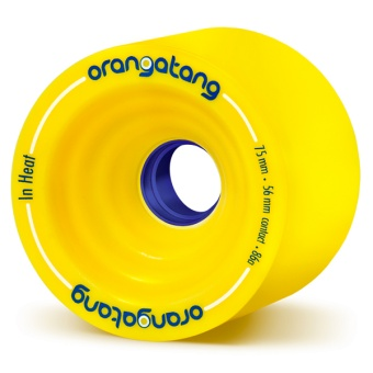 Orangatang 75mm InHeat 86A (Gul)