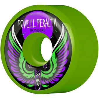 Powell Bombers 60mm 85A Green