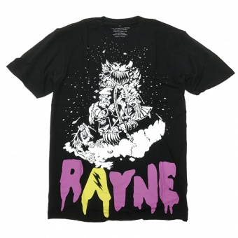 Rayne bamboo t-shirt Monster Blk
