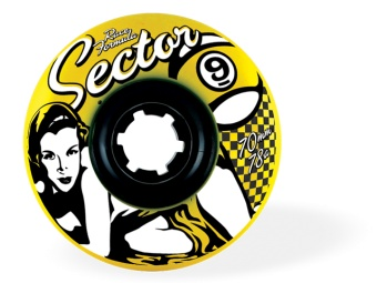 Sector9 70mm Freeride 78A (Yellow)