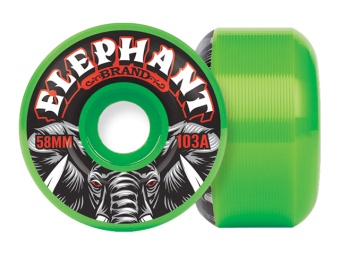 Elephant 58mm Pool Wheels 103A (Green)