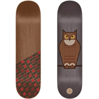 Habitat 8.125 Horned Owl Skateboard