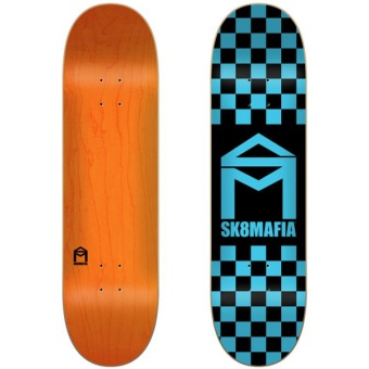Sk8mafia 8.375 House Logo Checker Blue deck