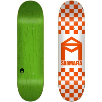 Sk8mafia 8.5 House Logo Checker Orange deck