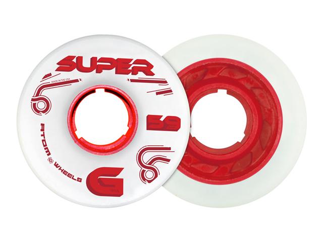Atom Super G 59mm 91A (röd)