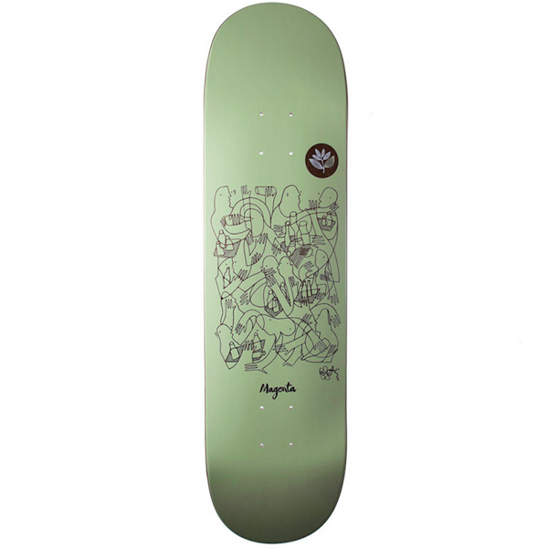 Magenta 8.25 GLEN FOX skateboard
