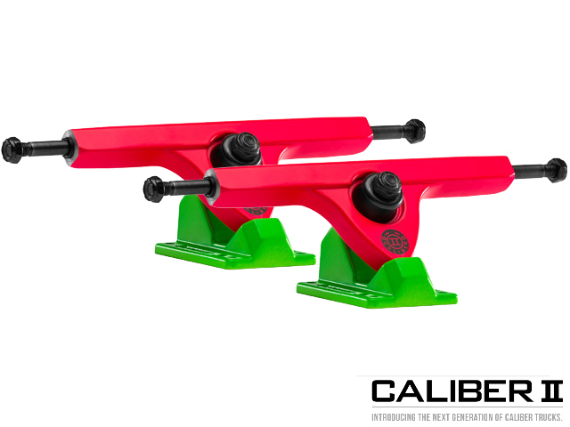 Caliber II trucks 184mm 50° Acid Melon