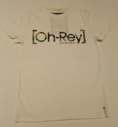 [Oh-Rey]™ T-shirt, vit med kamouflage