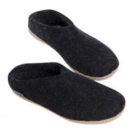 Glerups Tofflor - mörkgrå