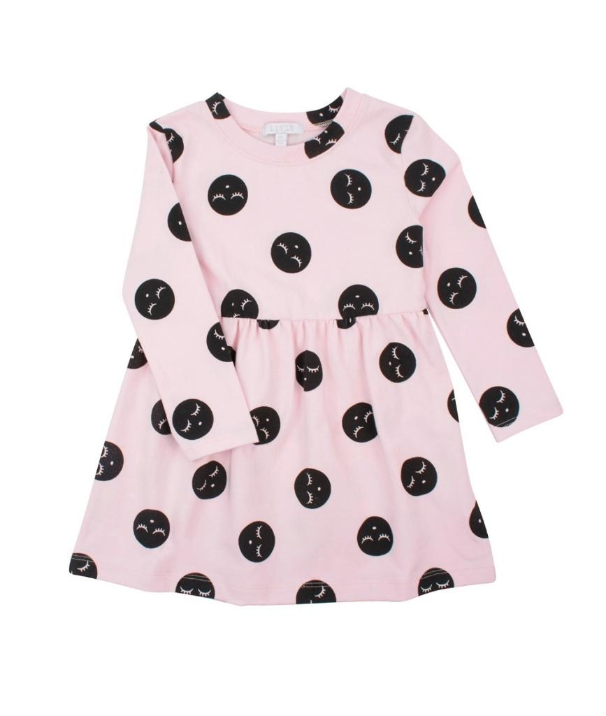 Lotta dress pink dots