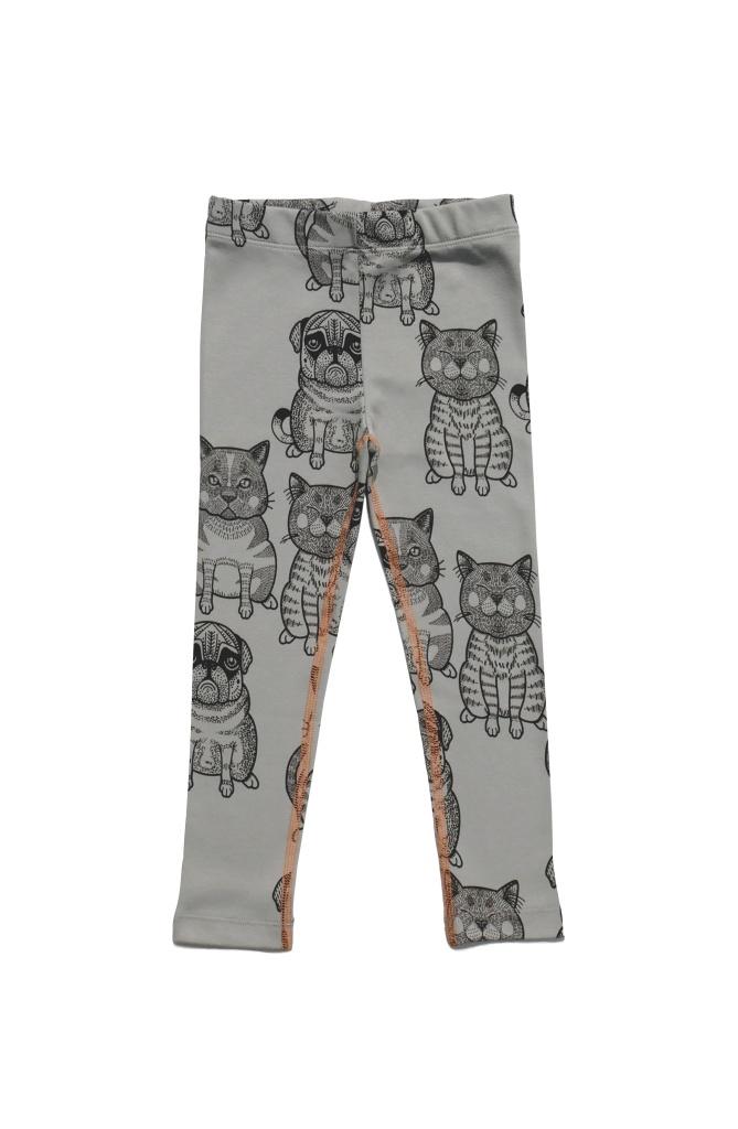 Leggings Cats + Pug Sage