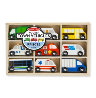 Wooden Town Vehicles Set