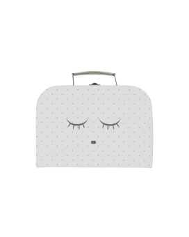 Sleeping Cutie Trunk small white/silver dots