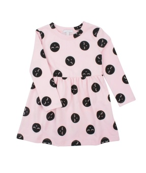 Lotta dress pink dots