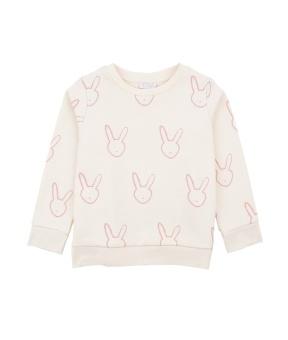 Bunny Sweatshirt Cream/Lavender