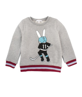 Sweatshirt placement hockey bunny