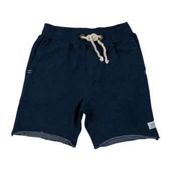 Red sweat shorts, Dark blue melange