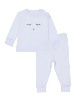 SLEEPING CUTIE 2 PIECE SET - BLUE/GREY