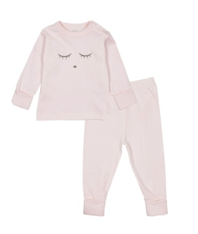 SLEEPING CUTIE 2 PIECE SET - PINK/GREY