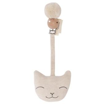 Barnvagnshänge Katt Offwhite