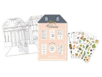 Målarbok Les Parisiennes med stickers