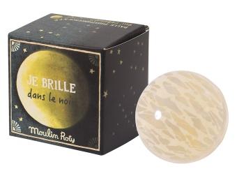 Studsboll 'Måne' självlysande