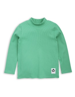 Solid rib ls turtle neck green