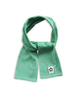 Solid rib scarf green