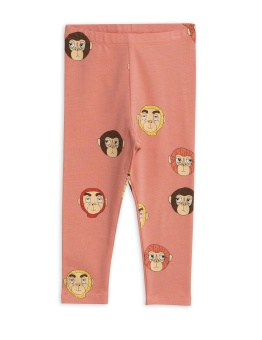 Monkeys aop leggings / Pink