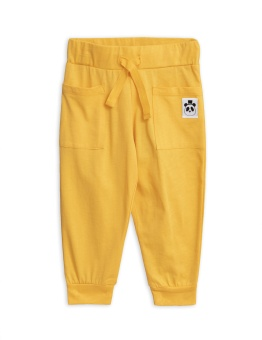 Solid cotton trousers / Yellow