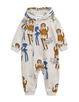 Cool monkeys aop onesie / Grey