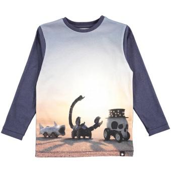 Rexol T-shirts LS Black Rock Desert