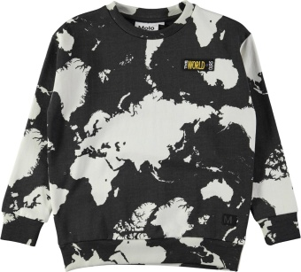 Madsim Sweaters World map dark