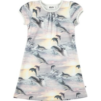 Camellia Dress Dolphin Sunset