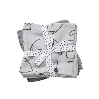 Swaddle Contour, grey, 2 pack