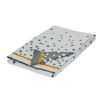 Knitted Blanket Happy Dots Grey