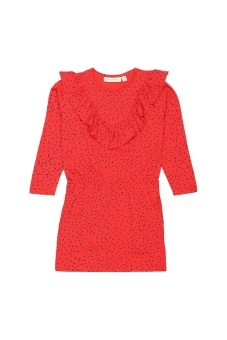 Dress mini dots, Red