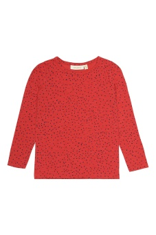T-Shirt LS Mini Dots, Red
