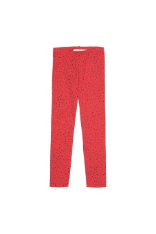 Leggings Mini Dots, Red