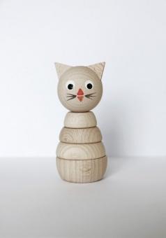Trä byggleksak Daisy Katt